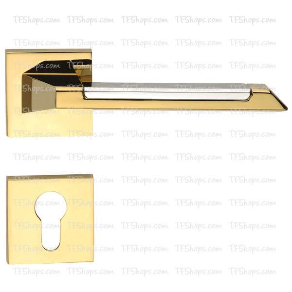 پلاک دستگیره دو تکه سوئیچی کروم طلایی +3562RB بهریزان