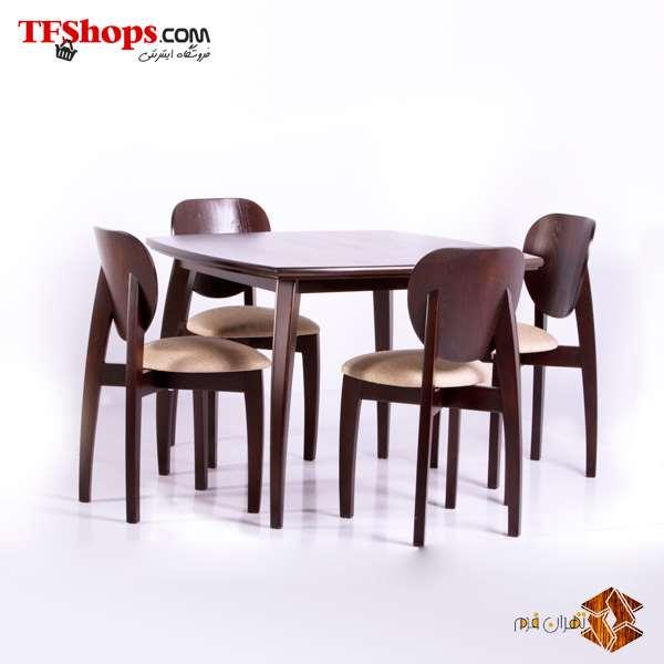 میز و صندلی ناهارخوری چهار نفره مدل L2 تهران فرم