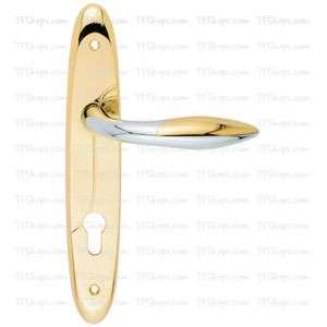 پلاک دستگیره سوئیچی کروم طلایی +2672B بهریزان