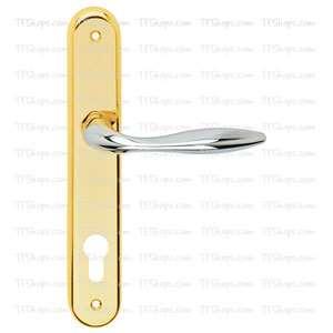 پلاک دستگیره سوئیچی کروم طلایی +3072B بهریزان