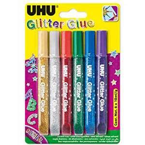 چسب اوهو مدل Glitter Glue بسته 6 عددی