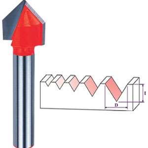 تیغ وی شکل 8×7.45×18 میل DM081803TA-90 دامار