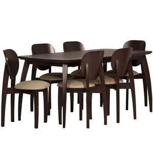 میز و صندلی ناهارخوری شش نفره مدل L2 تهران فرم
