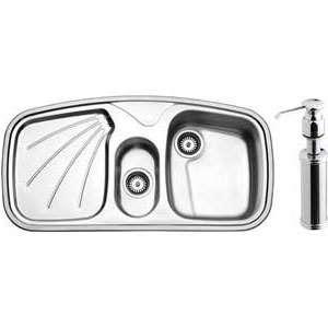 سینک استیل البرز مدل R-610 توکار با جا مایع