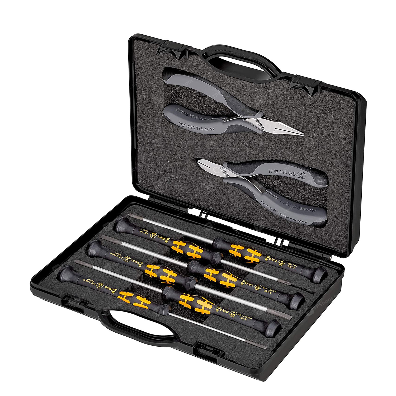 مجموعه 8 عددی ابزار الکترونیکی کنیپکس مدل 002018ESD