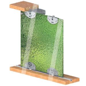 مکانیزم کشویی درهای شیشه ای 4 میل SCK35C مپا