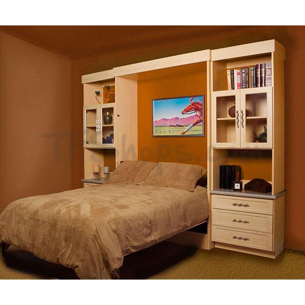 پک جک و فریم عمودی دو نفره 200×160 تخت خواب تاشو HTM