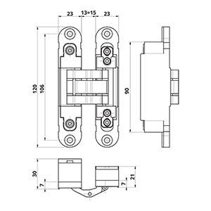 لولا مخفی 30 کیلویی با قابلیت تنظیم 3 بعدی IN230 اوتلاو