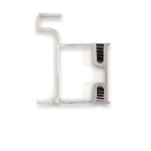 دستگیره پروفیلی مخفی L فرم کمدی 2.4 متری سیلور آنودایز L091 فانتونی