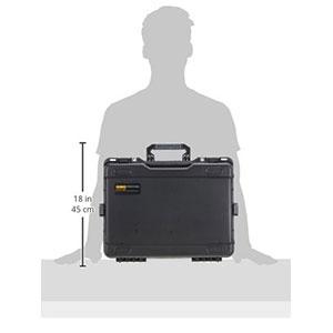 جعبه ابزار چرخ دار مشکی MTC430 مانو
