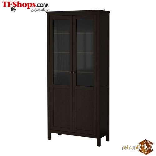 قفسه با درب شیشه - چوب 90Cm همنس