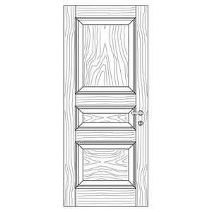 درب قاب تونیک با زهوار برجسته مدل C5