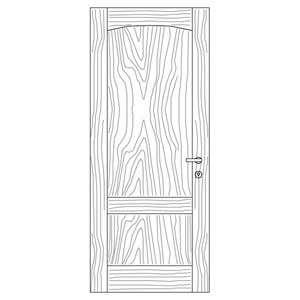 درب بدون زهوار مدل F2