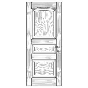 درب قاب تونیک با زهوار برجسته مدل C6