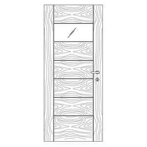 درب مدرن مدل M5