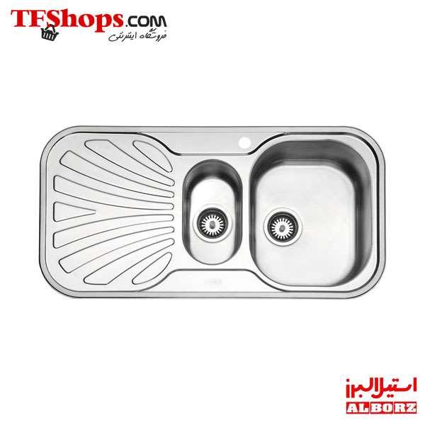 سینک توکار 510 لگن راست استیل البرز